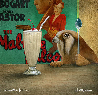 Painting - The Maltese Falcon... by Will Bullas