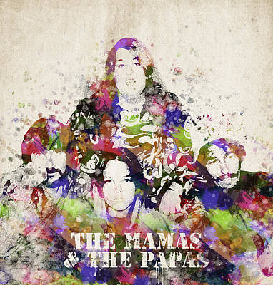 Central Park Mixed Media - The Mamas And The Papas by Aged Pixel