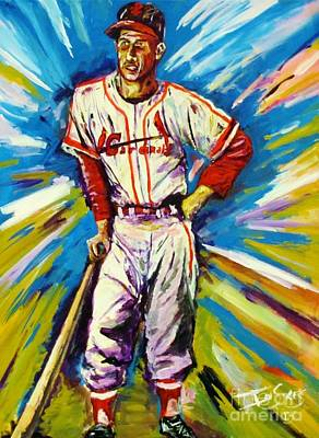 Baseball Hall Of Fame Painting - The Man by Ian Sikes