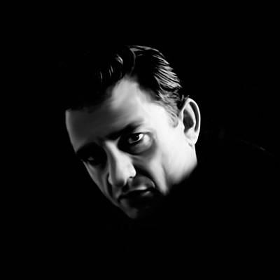 Johnny Cash Digital Art - The Man In Black by Laurence Adamson
