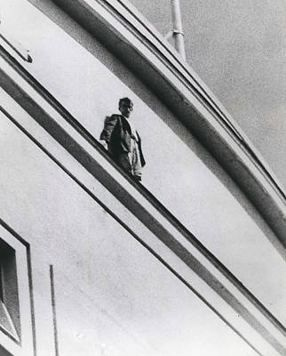 The Man In Love Is Saved From A Parapet Art Print by Retro Images Archive