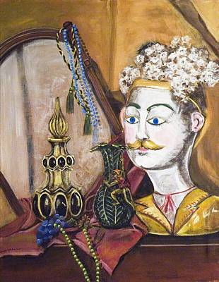 Art Print featuring the painting The Man In The Mirror by Susan Culver
