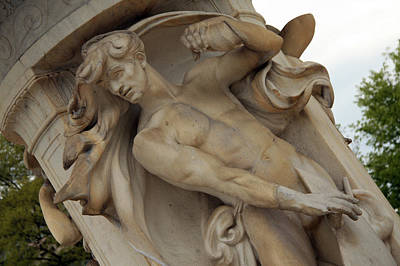 Dupont Circle Fountain -- The Male Wind Art Print by Cora Wandel