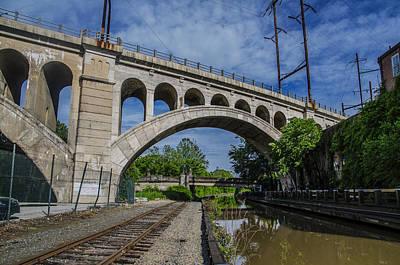 The Manayunk Canal And Bridge - Philadelphia Art Print