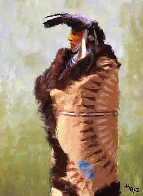 Painting - The Mandan Robe by Roger D Hale