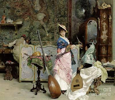 The Mandolin Shop Art Print by Vincenzo Capobianchi