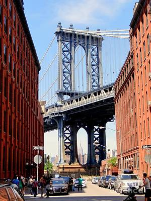 Photograph - The Manhattan Bridge by Ed Weidman