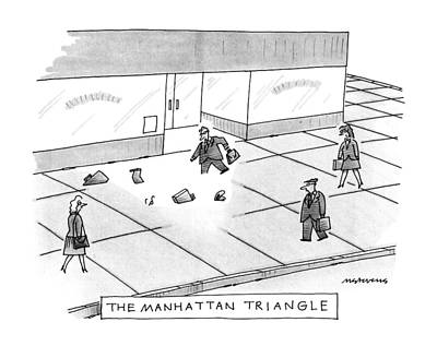 Manhattan Drawing - The Manhattan Triangle by Mick Steven