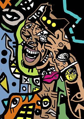 Popstract Digital Art - The Manic by Kamoni Khem