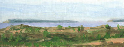 Painting - The Manitous From Sleeping Bear Point by Charles Pompilius