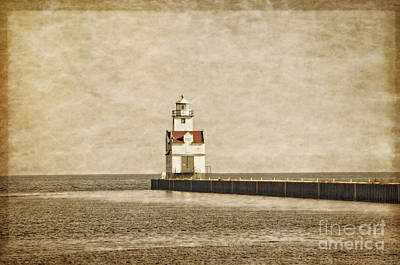Navigation Digital Art - The Manitowoc Breakwater Lighthouse by Mary Machare