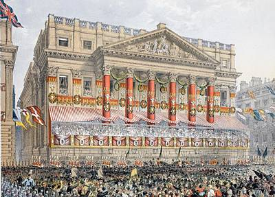 Royal Wedding Drawing - The Mansion House, 7th March, 1863 by English School
