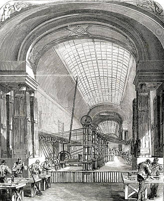 Louvre Drawing - The Manufacture Of Arms And  Ammunition by Mary Evans Picture Library