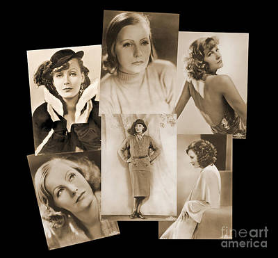 Photograph - The Many Faces Of Greta Garbo by Photo Researchers