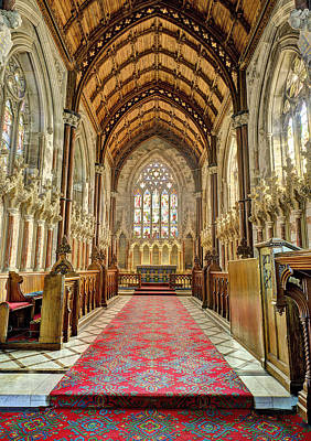St Margaret Photograph - The Marble Church Interior by Mal Bray