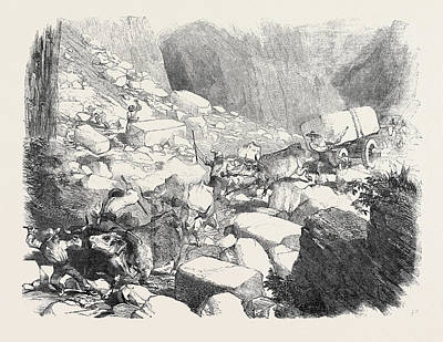 Carrara Marble Wall Art - Drawing - The Marble Quarries Of Carrara by English School