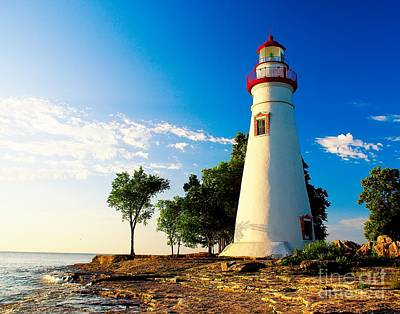 The Marblehead Light Art Print by Nick Zelinsky