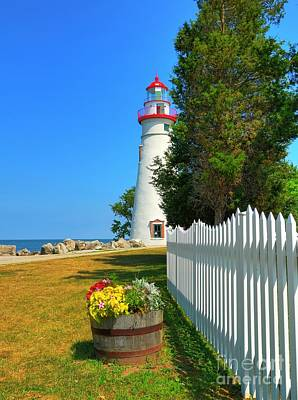 Photograph - The Marblehead Lighthouse by Mel Steinhauer