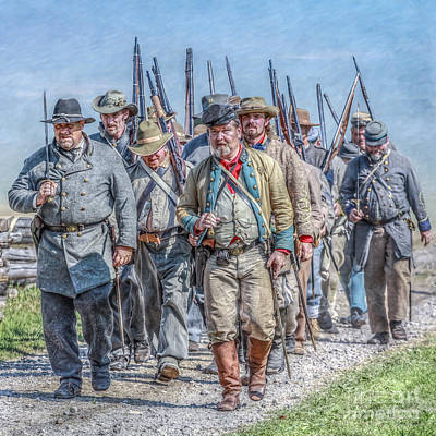 The March From Cashtown Print by Randy Steele