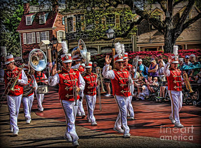 Saxophone Photograph - The Marching Band by Lee Dos Santos
