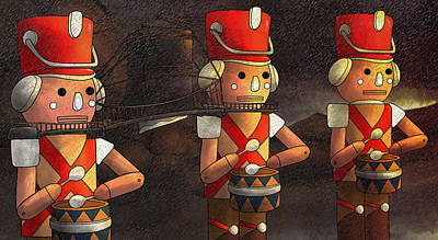 The March Of The Wooden Soldiers Art Print by Reynold Jay