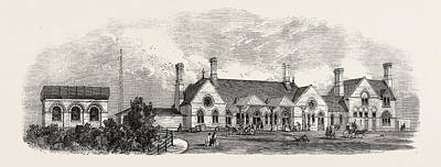Chatham Drawing - The Margate Station Of The East Kent London by English School