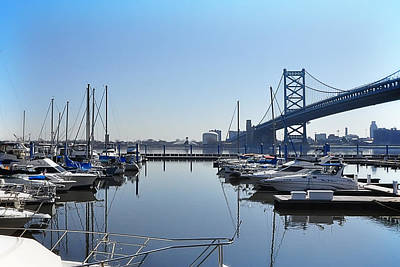 The Marina At Penns Landing  Art Print