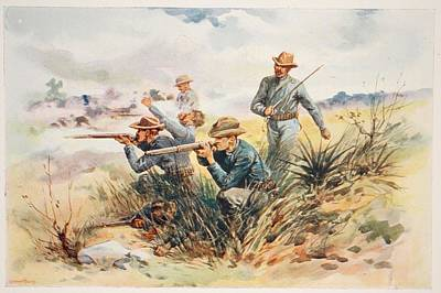 American Army Drawing - The Marines At Guantanamo, Illustration by E.S. Hardy