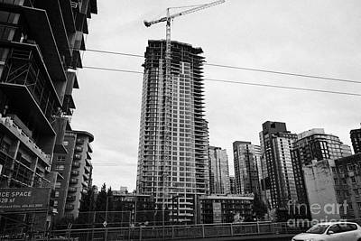 the mark new condo project granville street yaletown Vancouver BC Canada Print by Joe Fox