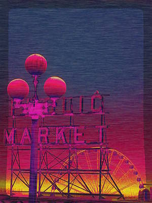 Digital Art - The Market And The Great Wheel by Tim Allen