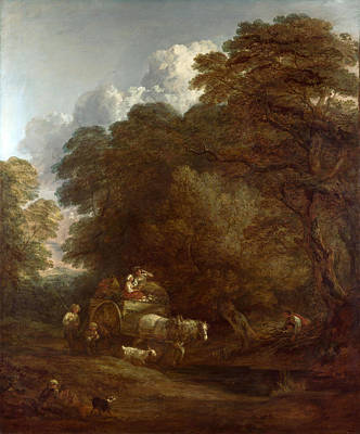 The Market Cart Painting - The Market Cart by Thomas Gainsborough