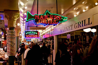Photograph - The Market Grill - Pike Place Market In Seattle by David Patterson
