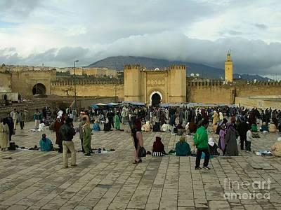 The Market In Fez Art Print by Sophie Vigneault
