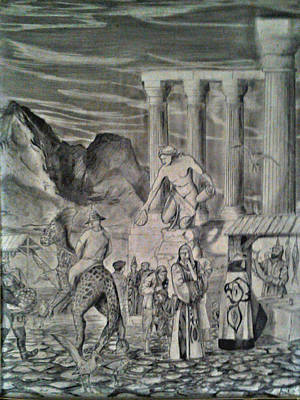 Drawing - The Market Place by George Harrison