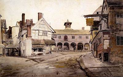 Marketplace Wall Art - Drawing - The Market Place, Ross, Hertfordshire by Cornelius Varley