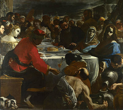 Cana Painting - The Marriage At Cana by Mattia Preti