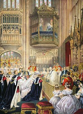The Marriage At St Georges Chapel Art Print by English School