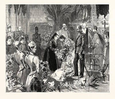 The Marriage Of Miss Ponsonby At The Guards Chapel Art Print by English School