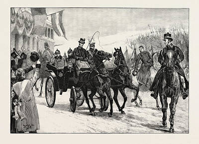 The Marriage Of Princess Marie Of Edinburgh Arrival Art Print by English School