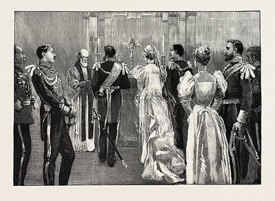 Historic Home Drawing - The Marriage Of Princess Marie Of Edinburgh The Protestant by English School