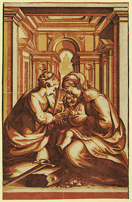 Jesus Drawing - The Marriage Of St. Catherine, Artist by Correggio, (antonio Allegri) (c.1489-1534), Italian