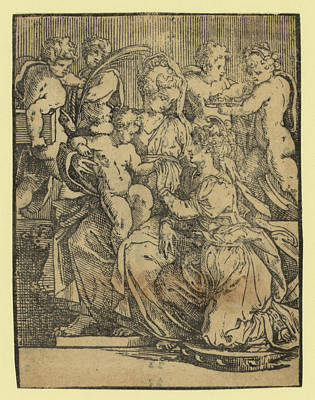 The Marriage Of St. Catherine Art Print by English School