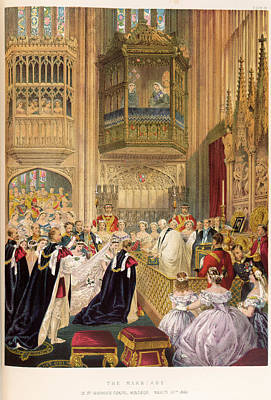 Alexandra Photograph - The Marriage Of The Prince Of Wales by British Library
