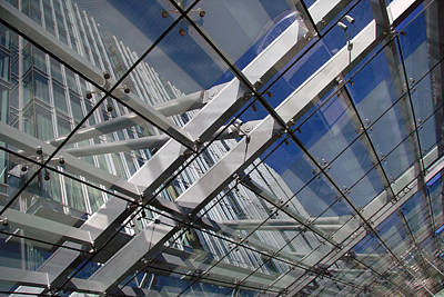 Photograph - The Marriott Marquis' Awning by Cora Wandel