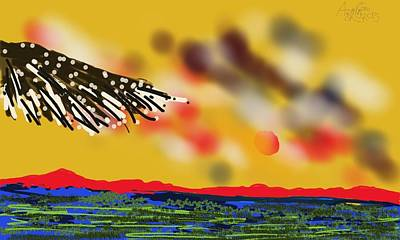 Digital Art - The Marsh On The Roof Of The World by Arjun L Sen