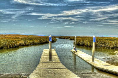 Pier Photograph - The Marsh Preparing To Launch by SC Heffner