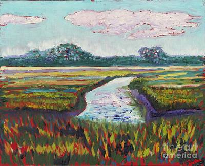 Low-country Artwork Painting - The Marsh by Preston Sandlin