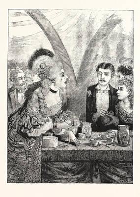 Martha Drawing - The Martha Washington Reception And Centennial Tea-party by American School