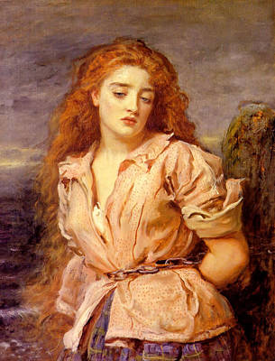 The Martyr Of The Solway Art Print by John Everett Millais