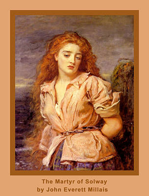 The Martyr Of The Solway Poster Art Print by John Everett Millais